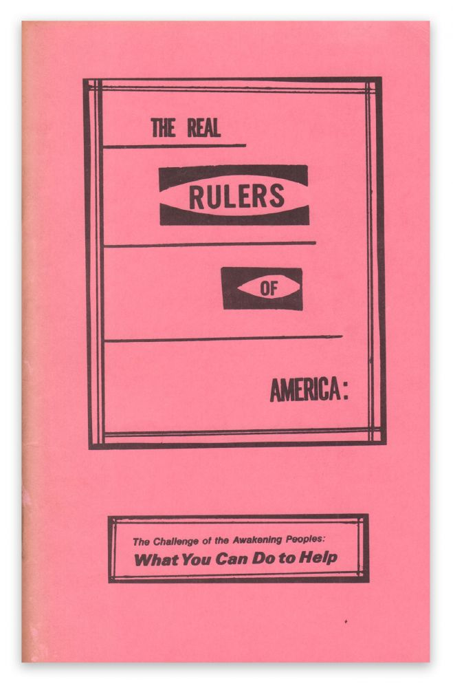 The Real Rulers of America: The Challenge of the Awakening Peoples: What You Can Do To Help. Helen P. LASELL.