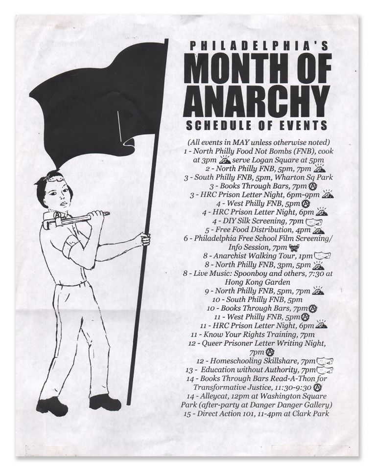 Philadelphia's Month of Anarchy Schedule of Events