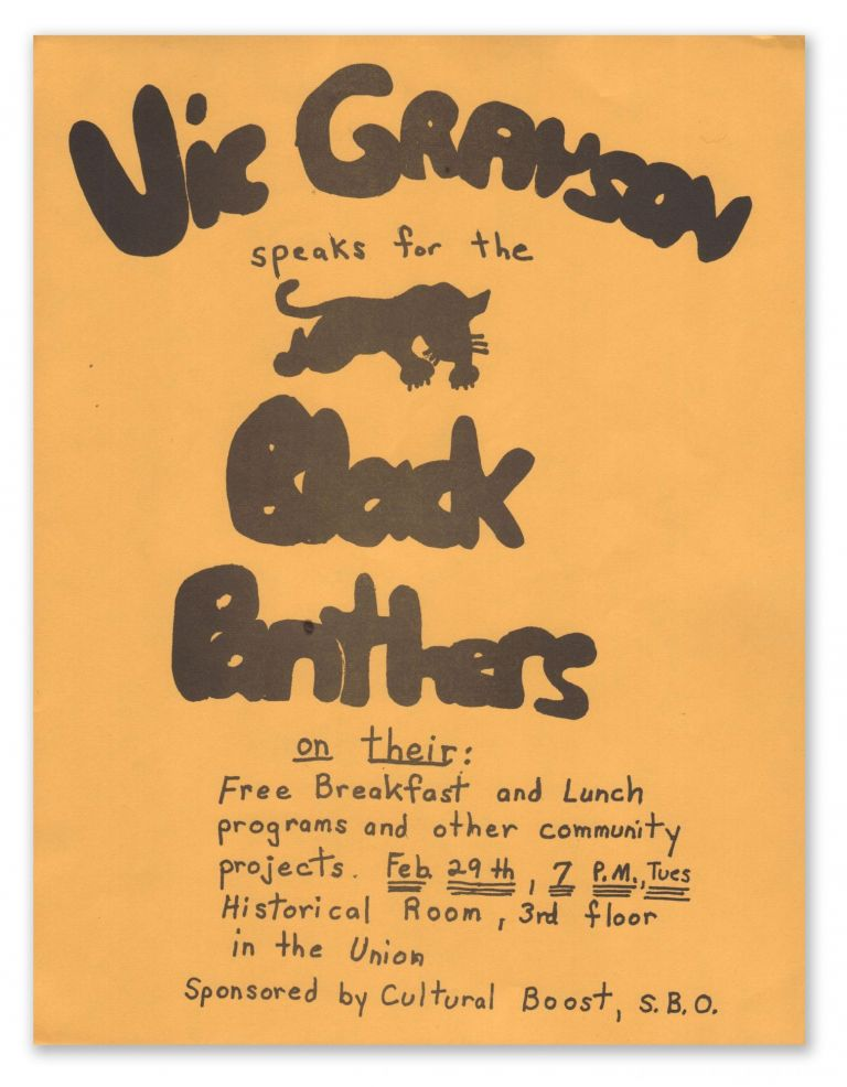 Vic Grayson Speaks for the Black Panthers