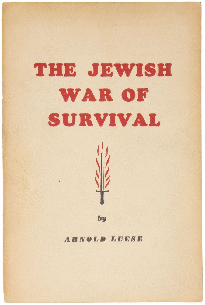 The Jewish War of Survival. Arnold LEESE.