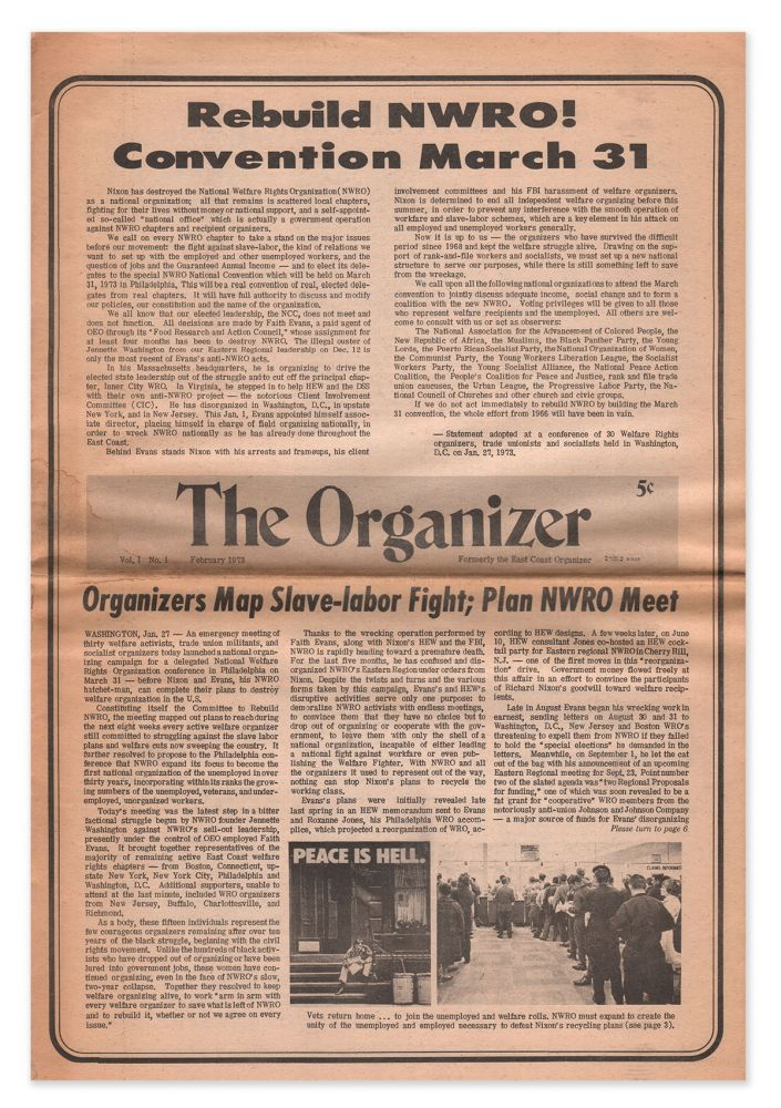 The Organizer, Vol. 1, No. 1, February, 1973