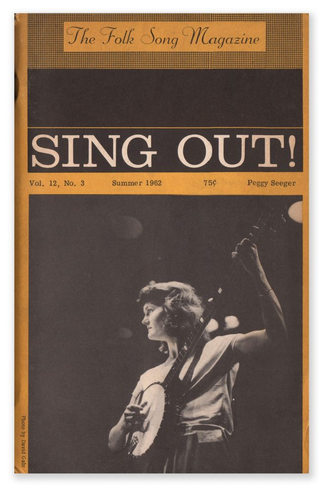 Sing Out!, Vol. 12, No. 3, June-July, 1962. Irwin SILBER.