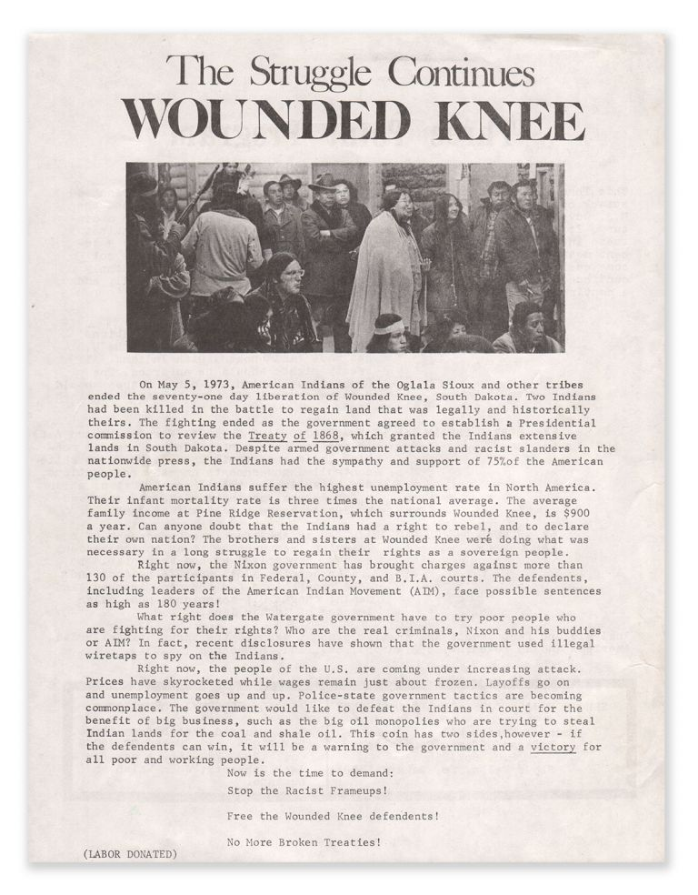 The Struggle Continues Wounded Knee