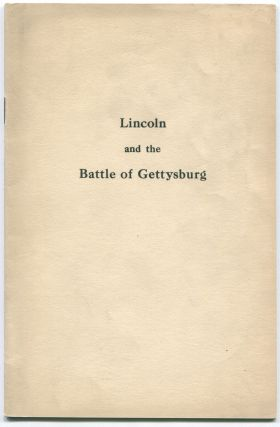 Lincoln and the Battle of Gettysburg. Grover LADNER, leveland.