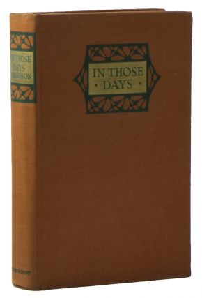 In Those Days: An Impression of Change. Harvey FERGUSSON