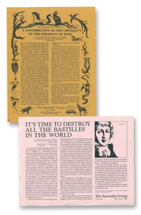 Two Broadsides of The Surrealist Group of Chicago: It's Time to Destroy all the Bastilles in the...
