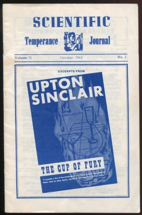"""The Cup of Fury"" [in] Scientific Temperance Journal, Volume 71, No. 3, October, 1963. Upton..."