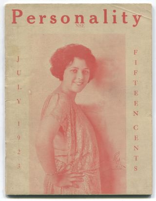 Personality Magazine, Vol. XIV, No. 7, July 1923. Arthur FISHER