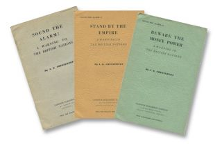 Sound the Alarm! A Warning to the British Nations [Three Volume Set - Complete]. A. K. CHESTERTON.