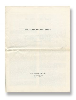 The State of the World. Anon.