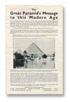 The Great Pyramid's Message to this Modern Age. The Covenant Publishing Co.