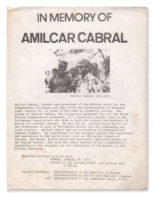 In Memory of Amilcar Cabral