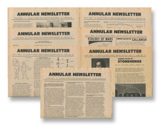 Annular Newsletter, Vol. 5, Nos. 3-4; Vol. 6, Nos. 1-5 , 1970-73 [seven issues]. Donald L. CYR.