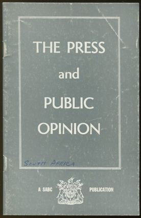 The Press and Public Opinion. Ivor BENSON