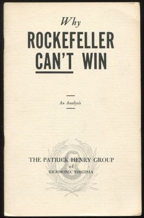 Why Rockefeller Can't Win: An Analysis. John J. SYNON
