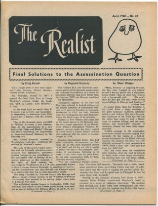 The Realist, No. 78, April, 1968. Paul KRASSNER, ed.0.