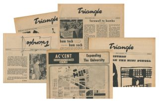 Triangle, Vol. XLVI, Nos. 41, 49; Vol. XLVII, Nos. 40, 43; Ac'cent, A Supplement to the Drexel Triangle, April 30, 1971 [five issues total]. V/A.