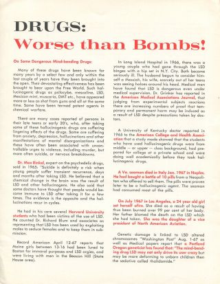 Drugs: Worse Than Bombs! Maila E. LAMB
