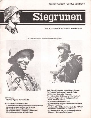 Siegrunen, Volume 6, Number 1, July-September, 1983 (Whole Number 31). Richard LANDWEHR.