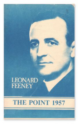 The Point 1957. Rev. Leonard FEENEY, James K. WARNER