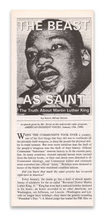The Beast as Saint: The Truth About Martin Luther King