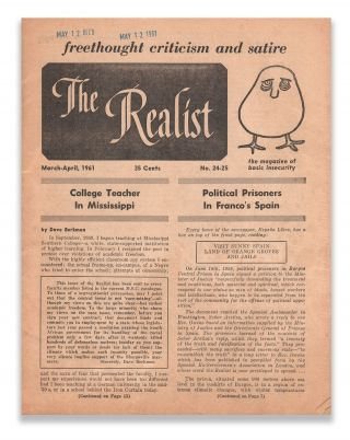 The Realist, No. 24-25, March-April, 1961. Paul KRASSNER