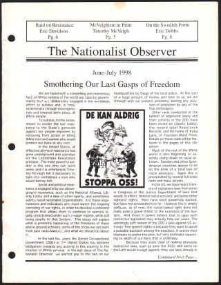 The Nationalist Observer, Vol. 2, No. 2, June-July 1998. Alex CURTIS
