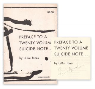 Preface to a Twenty Volume Suicide Note.... [SIGNED