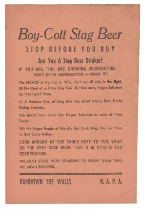 Boy-Cott Stag Beer, Stop Before You Buy. N A. P. A