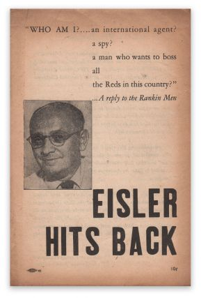 Eisler Hits Back [cover title]. Gerhart EISLER