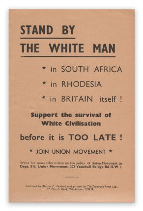 Stand By the White Man. Union Movement.