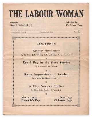 The Labour Woman: A Political Monthly Journal for Working Women, Vol. XXIII, No. 12, December,...
