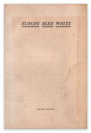 Europe Bled White. E. STAUFFEN