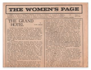 The Women's Page, No. 5, April-May, [1971