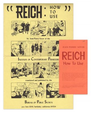 Reich: How to Use [with] promotional wall poster [two items]. Jean-Pierre VOYER, Ken KNABB