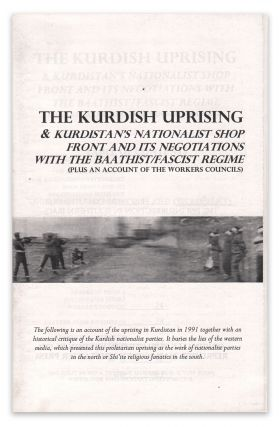 The Kurdish Uprising & Kurdistan's Nationalist Shop Front and Its Negotiations with the...