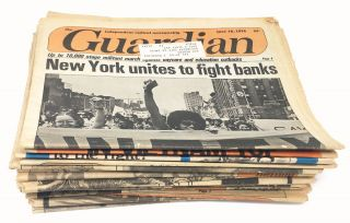 A broken run of twenty-six issues of the Guardian, 1968-1977