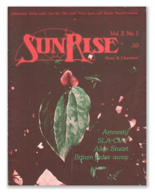 SunRise, Vol. 3, No. 1. Bill KNIGHT, Anita HOFFMAN, contributor