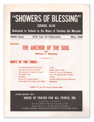 Showers of Blessing, 569th Issue, May, 1968. William L. BLESSING.