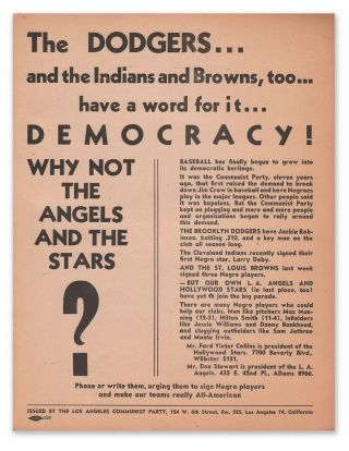 The Dodgers...and the Indians and Browns, too...have a word for it... DEMOCRACY! WHY NOT THE...