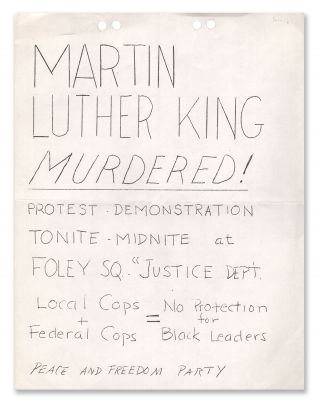Martin Luther King Murdered! Peace, Freedom Party
