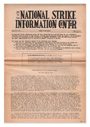 National Strike Information Center, Newsletter #12, May 27, 1970