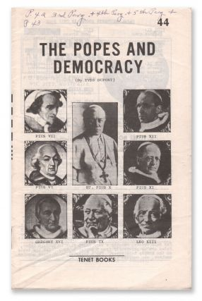 The Popes and Democracy. Yves DUPONT.