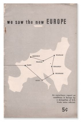 We Saw the New Europe. American Jewish Labor Council