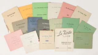17 Program Booklets for the La Verite Literary Club, 1924-1974. La Verite Club