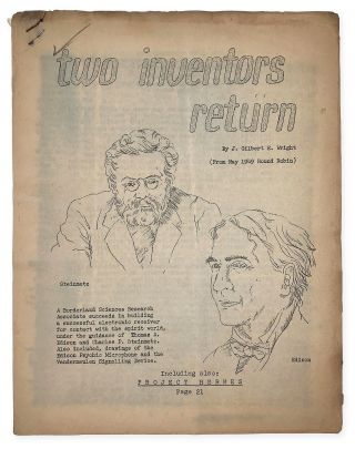 Two Inventors Return / Project Hermes. J. Gilbert E. WRIGHT