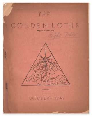 The Golden Lotus, Vol. 4, October, 1947. William J. LESLIE