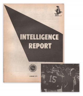 Intelligence Report, November, 1973. Inc The Intelligence Division of the Grand Klokann Committee...