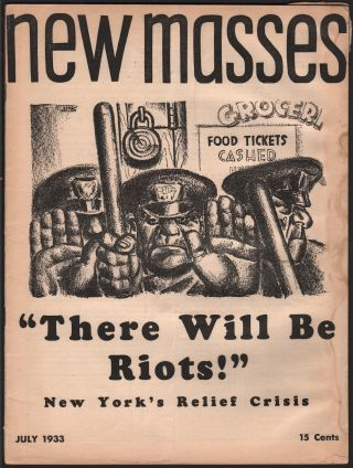 New Masses, Vol. 8, No. 11, July 1933. Editorial Board