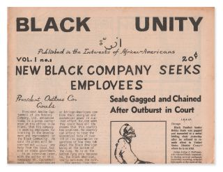 Black Unity, Vol. 1, No. 1. Tom SANDERS